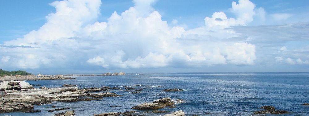 南房総から見渡す限りの大海原を臨む
